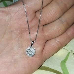 Jewelry - Nwt sterling silver diamond necklace
